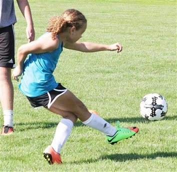 Spartan Athletics Holds Soccer Camp