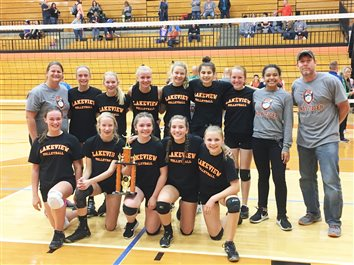 Lakeview 8th Graders Win Volleyball Invitational