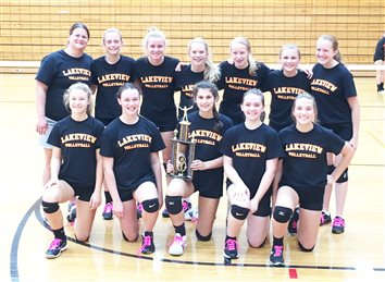 Lakeview 8th Graders Win Volleyball Tournament