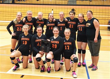 Lakeview 8th Graders Win Conference VB Tournament