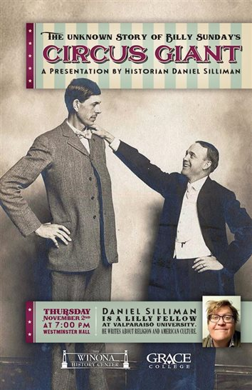Silliman To Present On Billy Sunday At Grace College