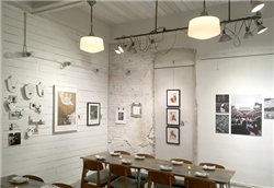 Shown is the gallery space at Rua. Photo provided.
