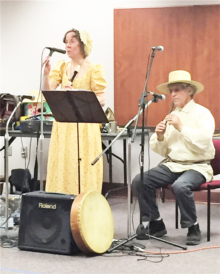 Photo Provided Musicians Liza and Mark celebrate story and song at the Warsaw Community Public Library.