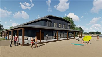 Park Board Looks Over Designs For Renovated Center Lake Pavilion