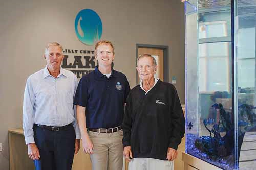 Pictured (L to R) are Rep. David Abbott, District 82; Dr. Nate Bosch, director of the Lilly Center for Lakes & Streams; and Rep. David Wolkins, District 18. Photo Provided