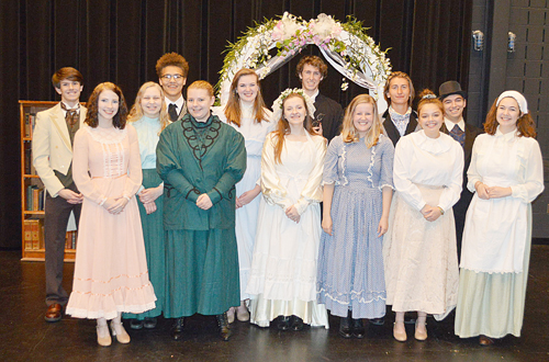 "Shown is the cast of Warsaw Community High School Select Theatre's production of ""Good Wives."" Photo by David Slone"