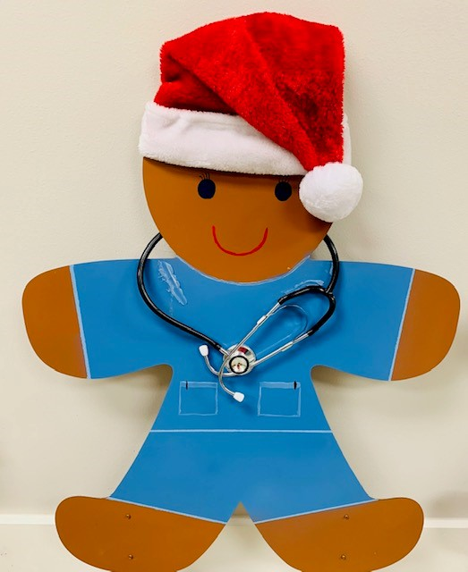 Peabody Retirement Community in North Manchester is hosting a free gingerbread drive-thru trail through Dec. 28. Second photo is a decoration in the facility's dining hall; first photo is a medical gingerbread on display. Photos Provided
